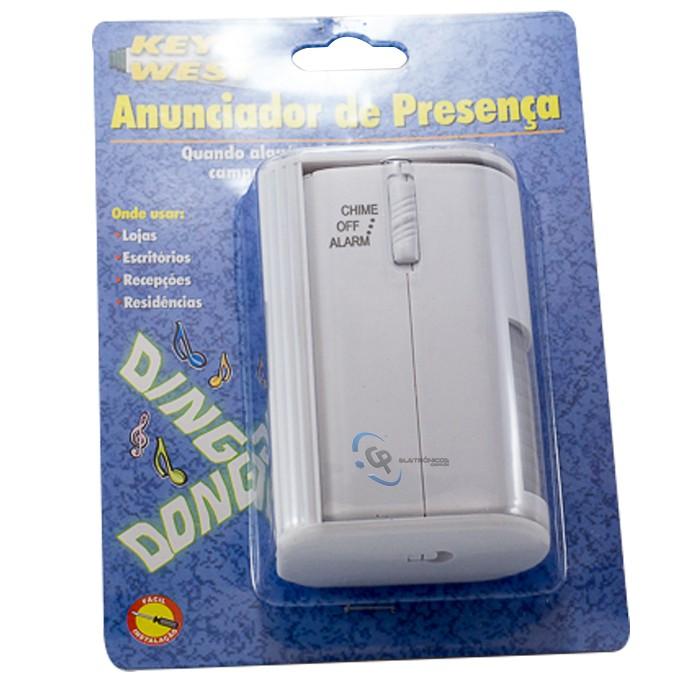 Anunciador de Presença Com Alarme Sem Fio DNI 6000
