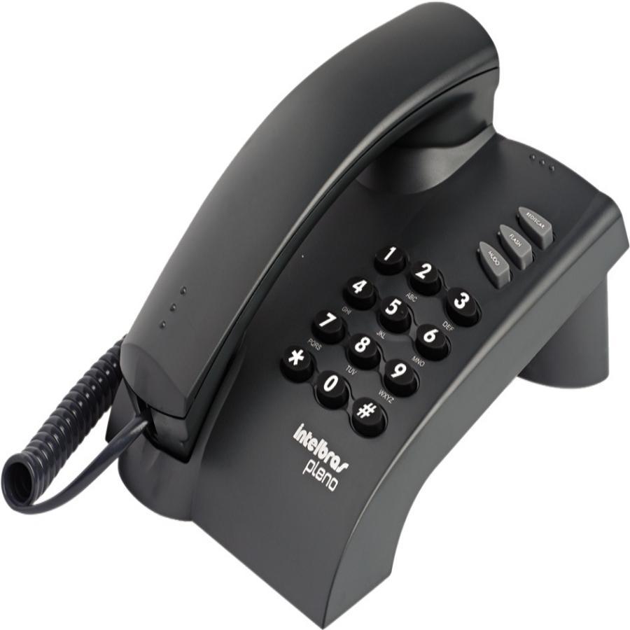 Telefone de Mesa com Fio Intelbras Pleno Preto