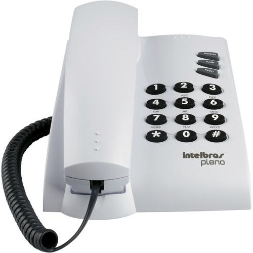 Telefone de Mesa com Fio Intelbras Pleno Cinza Artico