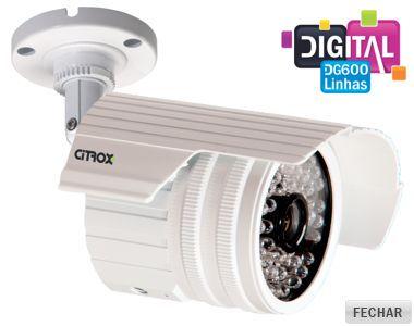 Câmera Infravermelho 30 metros 1/3 Lente Digital 3,6mm 600 Linhas