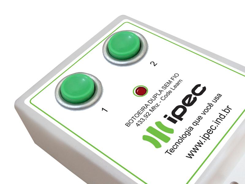 Botoeira Dupla Sem Fio IPEC Bot 02/RF