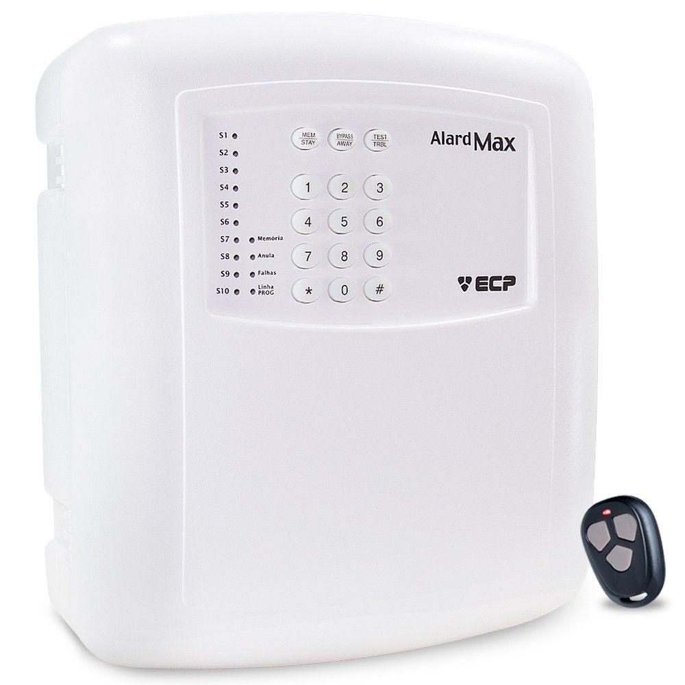 Central Alarme ECP Residencial e Comercial  Alard Max 10 com Discadora DTMF