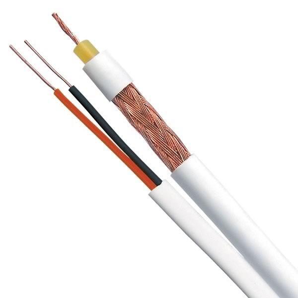 Cabo Coaxial CFTV Flexível Slim 4 mm 80% Malha Bipolar  Rolo 100 Mts - Multitoc