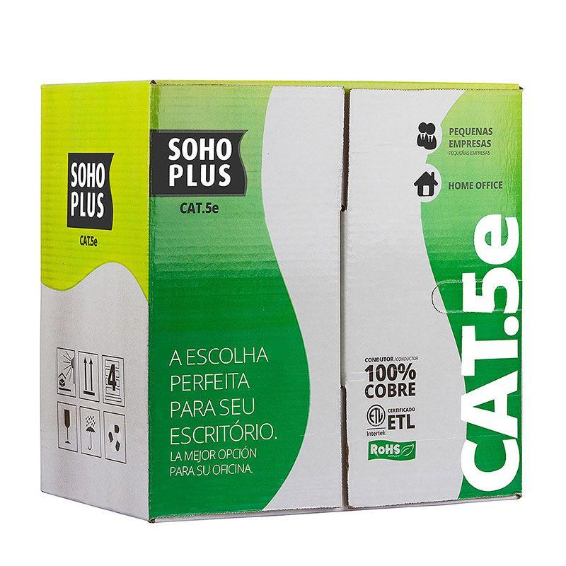 Cabo De Rede Cat5e Furukawa Cmx Soho Plus 100 Metros