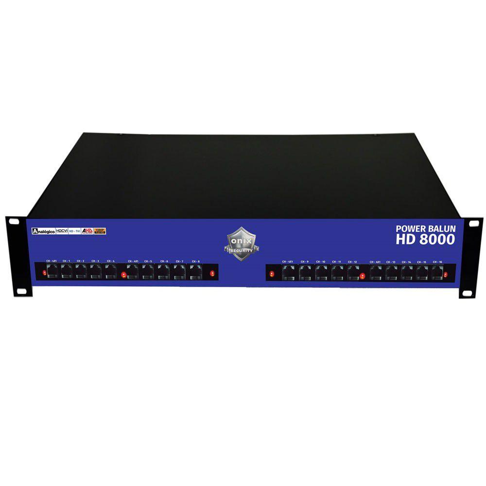"""Rack Orion HD 8000 Power Balun 19"""" de 16 Canais – Onix Security"""