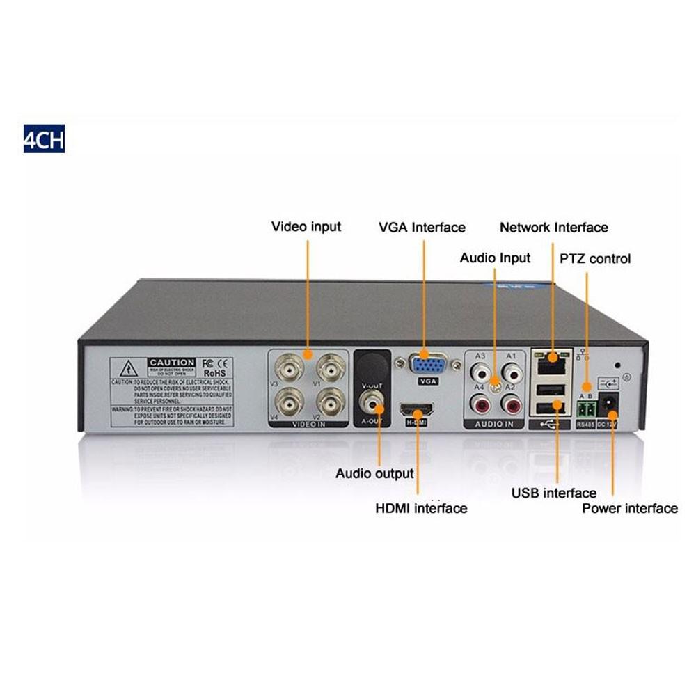 Dvr 4 Canais Full HD - 5x1  HDTVI - HDCVI - AHD - ANALÓGICO e IP - 1080N Anko Brasil