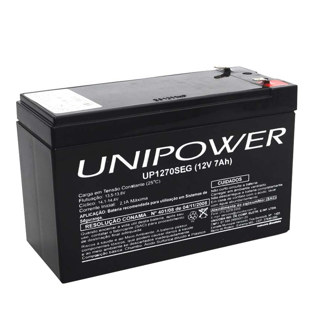 Bateria Recarregavel Selada 12v 7 Ah Up1270 Seg