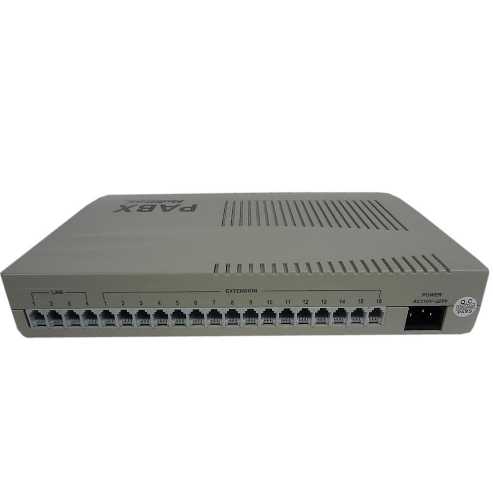 Central  Telefonica PABX 4 Linhas e 16 Ramais - Multitoc