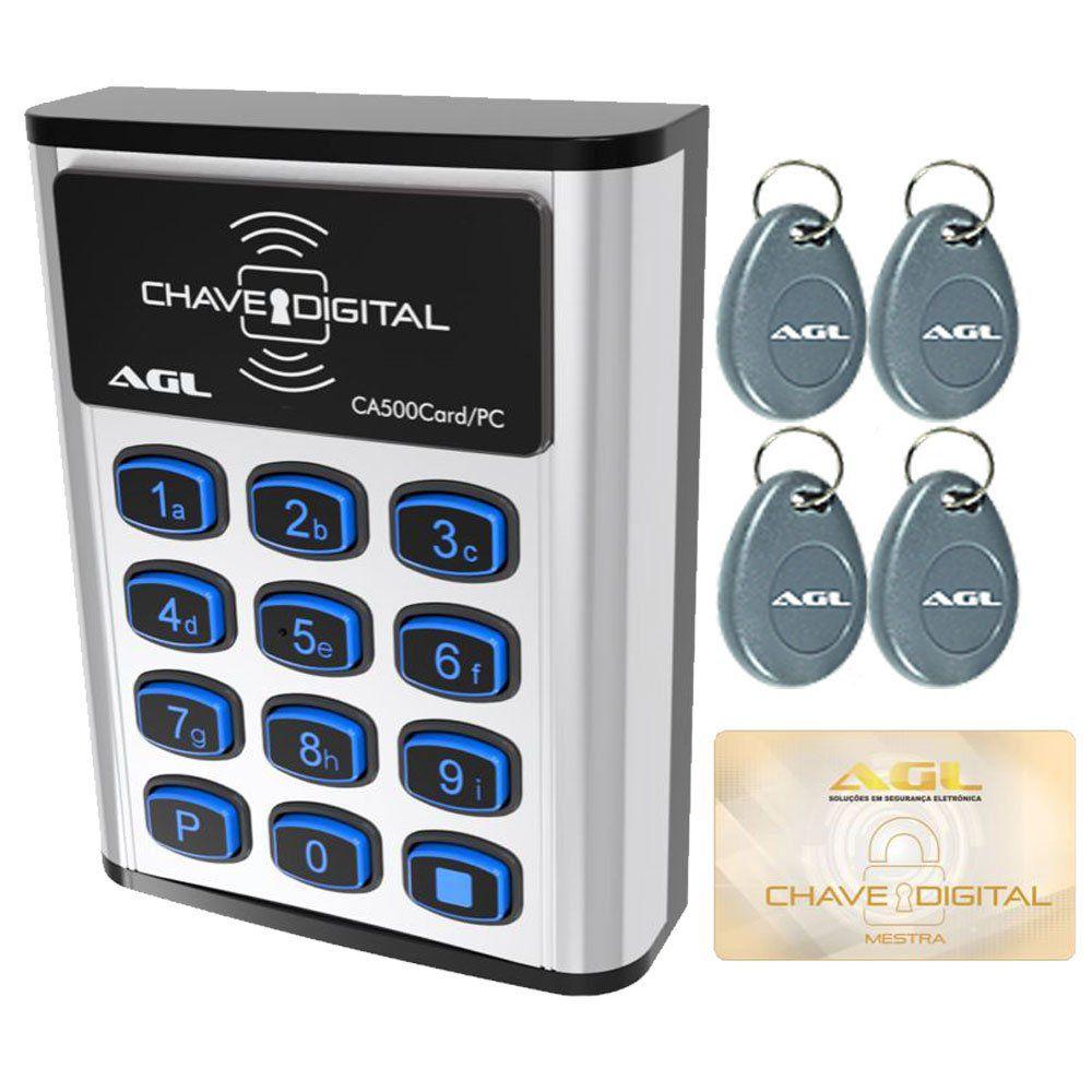 Controle De Acesso Digital Com Software CA500 Card /PC