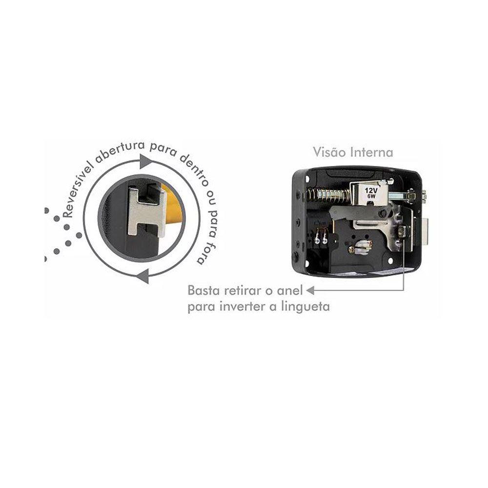 Fechadura Elétrica 12V Reversível LR100 - AGL