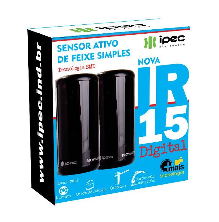 Sensor de Barreira  Fotocélula IR15 Digital  IPEC