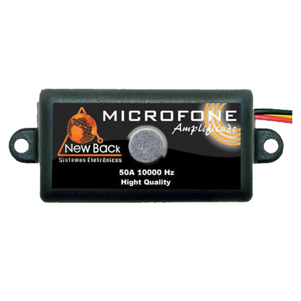Microfone Amplificado Para Cftv - New Back
