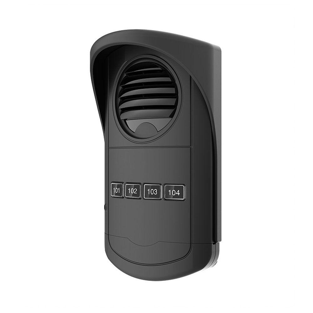 Porteiro Eletrônico Coletivo 4 Pontos Preto - S300 AGL