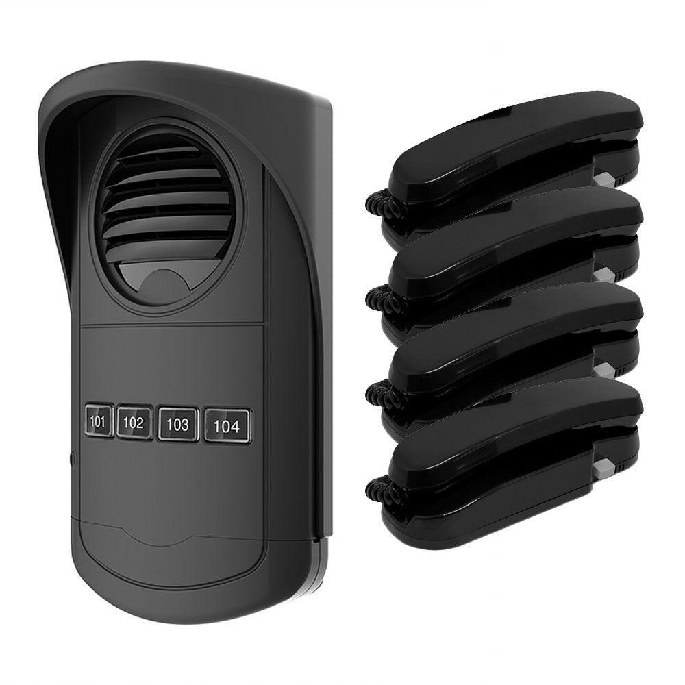 Porteiro Eletrônico Coletivo 4 Pontos S300 com 4 Monofones - AGL