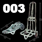 Carrinho de Bagagens Capacidade até 90 kg dobravel Roda Luxo Acompanha elastico 1,5m