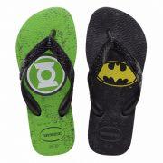 Chinelo Havaianas Infantil DC Heróis Lanterna Verde e Batman