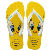 Chinelo Havaianas Infantil Looney Tunes Amarelo Citrico