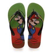 Chinelo Havaianas Original Masculino Mario Bros e Luigi