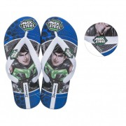Chinelo Infantil Ipanema Polly e Max Steel Azul/Branco