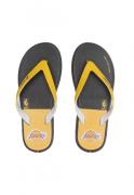 Chinelo Rider Masculino R1 NBA AD Preto com Amarelo