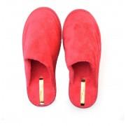 Pantufa Moleca Feminino Vermelho Tecido Pluma Duo - 5427100
