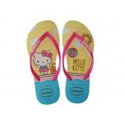 Havaianas Chinelo Feminino Slim Hello Kitty Branco