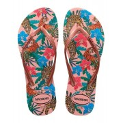 Havaianas Chinelo Feminino Slim Tropical Rosa Ballet/Rosa