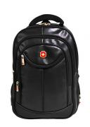 Mochila Swissland Executiva com Compartimento para Notebook em PU Preta SL01005