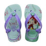 Sandália Bebê Infantil Havaianas Disney Princesas Ariel Pequena Sereia Baby