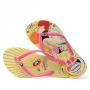 Chinelo Havaianas Infantil Kids Disney Cool Bege Palha com Rosa