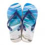 Chinelo Havaianas Masculino Surf Bege Palha com Marinho