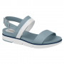 Sandalia Beira Rio Feminino Flatform Napa Turim 8387103 Branco com Jeans