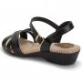 Sandália Modare Ultraconforto Feminino 7017435 Preto com Preto