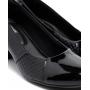 Sapato Modare Salto Baixo Verniz Premium Preto, Pele Strech Preto - 7316108