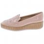 Sapato Piccadilly Feminino Flatform Verniz 977006 Rose