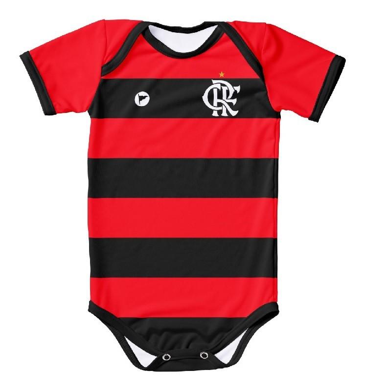 Body Torcida Baby/Listra  Protecao UV Flamengo Licenciada 033XS