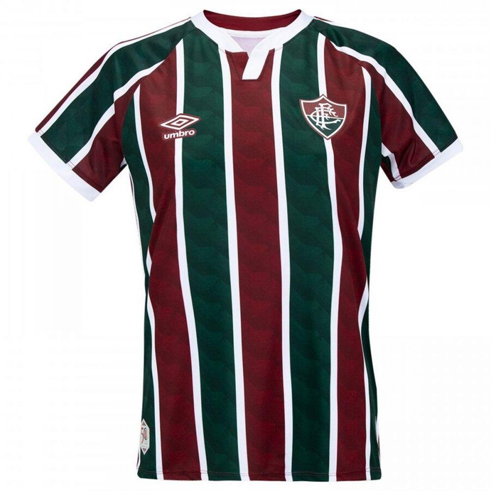 Camiseta Fluminense Masculina Oficial 1 2020 Classic S/N Vin/Bco/Vrd