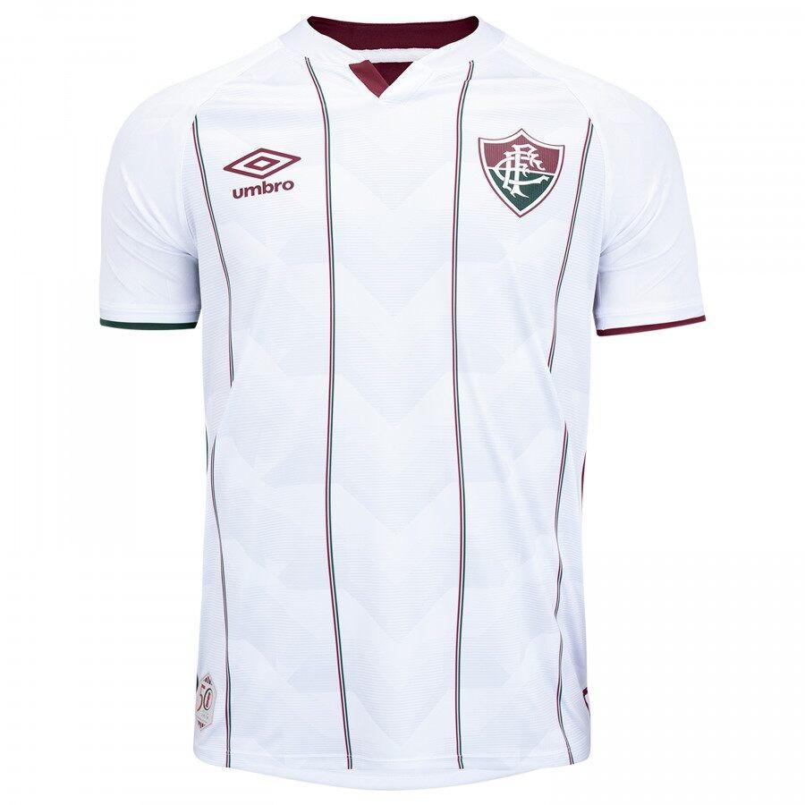 Camiseta Fluminense Masculina Oficial 2 2020 Classic Bco/Vin/Vrd Umbro 3FL161152