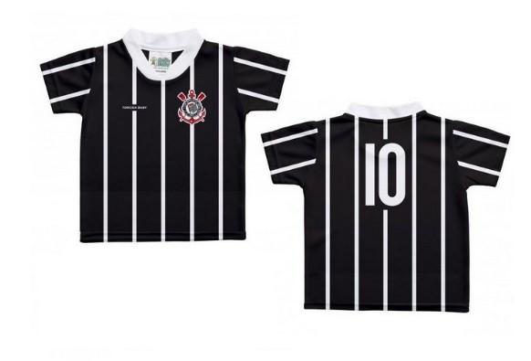 Camiseta Torcida Baby Corinthians Licenciada Sublimada - 031SX