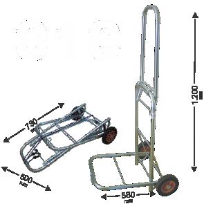 Carrinho de Bagagens Capacidade até 150 kg dobravel Acompanha elastico 1,5m