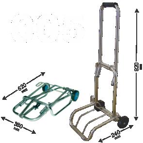 Carrinho de Bagagens Capacidade até 70 kg dobravel Acompanha elastico 1,5m