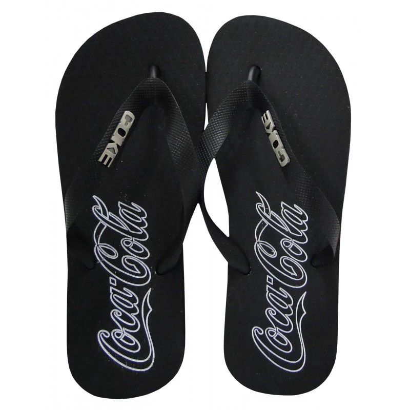 Chinelo Coca Cola Unissex Colors Preto