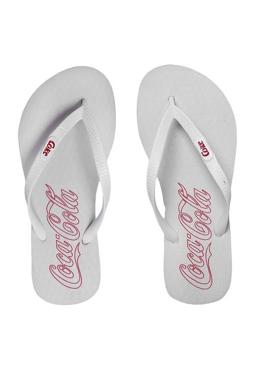 Chinelo Feminino Coca-Cola Oficial Branco