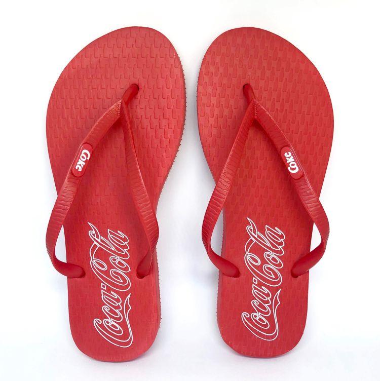 Chinelo Feminino Coca-Cola Oficial Vermelho