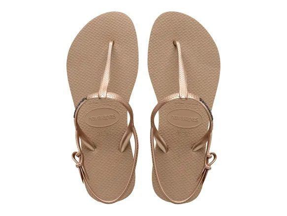 Chinelo Feminino Havaianas Freedom Slim Rose Gold
