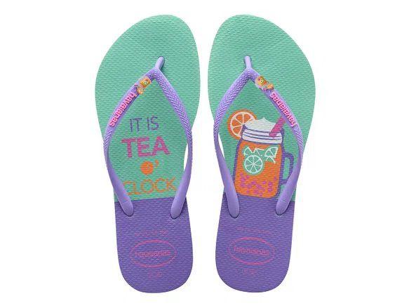Chinelo Feminino Havaianas Hora do Chá Slim Cool It's tea o'clock