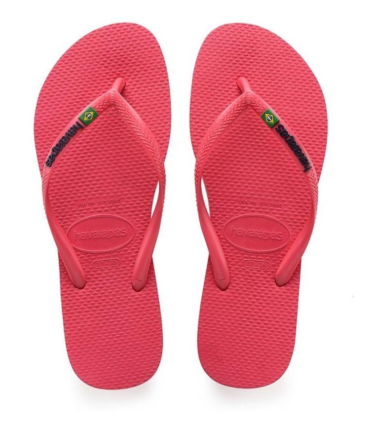 Chinelo Havaianas Feminino Slim Brasil Flamingo
