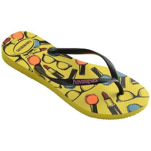Chinelo Feminino Havaianas Slim Cool Amarelo Cítrico