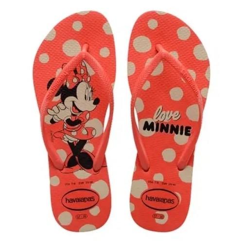 Chinelo Havaianas Feminino Slim Disney Fc Vermelho Crush