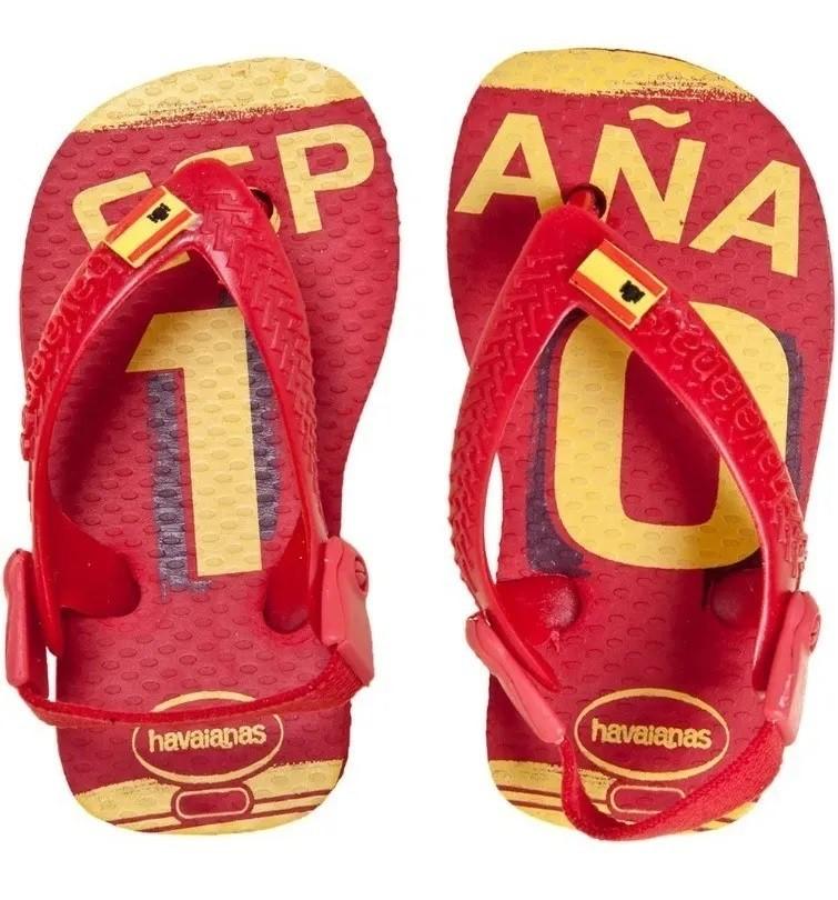 Chinelo Havaianas Baby Teams Espanha Vermelho